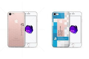 iPhone 7 TPU Clear Phone Case Mockup
