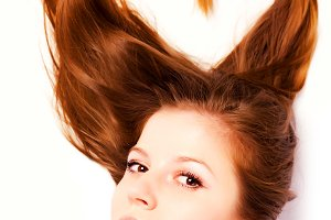 long hair in shape of heart