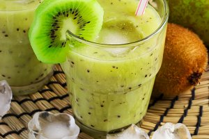 Fruit Smoothie with kiwi, banana and pear