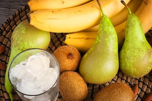 Fruits and Ice for making smoothies