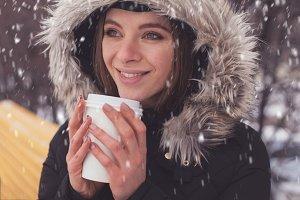 woman in winter standing outdoor