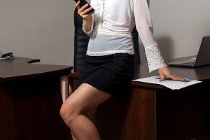 Sexy young  secretary