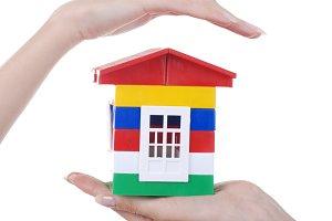 toy colour plastic house