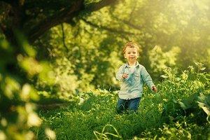 Cute Little Boy Having Fun