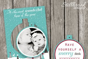 Pop Out Christmas Card Template