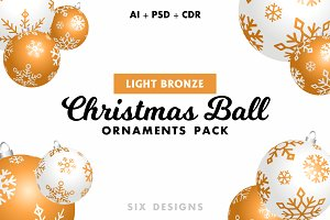 Christmas Ball Ornaments - Bronze
