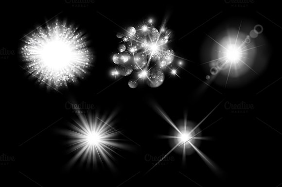 Lens flare, rays, star and sparkles in Objects - product preview 2
