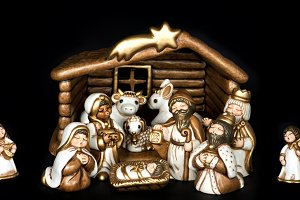 Christmas crib. Nativity scene