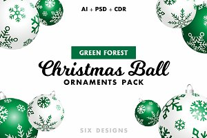 Christmas Ball Ornaments - Green