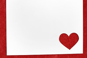 Heart shaped Valentine day cut paper