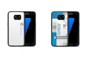 Galaxy S7 2d RubberPhone Case Mockup