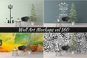 Wall Mockup - Sticker Mockup Vol 160