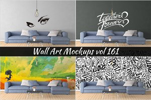 Wall Mockup - Sticker Mockup Vol 161