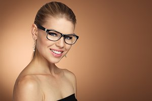 Fashion girl in eyeglasses