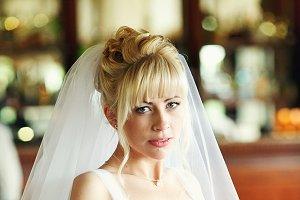 A blonde bride
