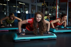 People training in the gym