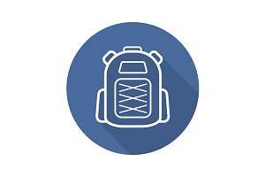 Backpack icon. Vector