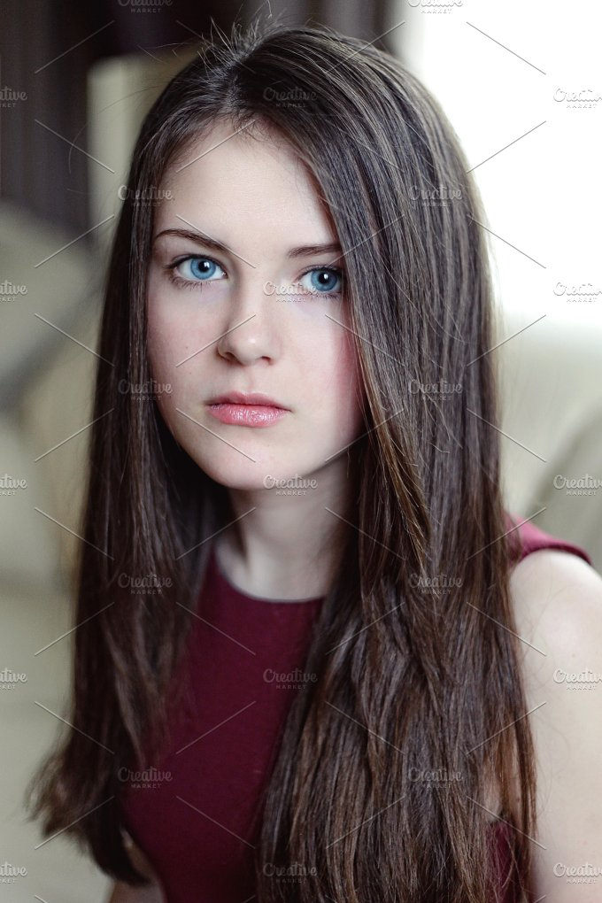 Beautiful young girl with long hair people photos for Teenage beautiful girls