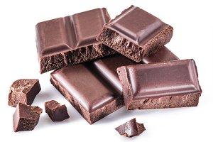 Pieces of chocolate bar