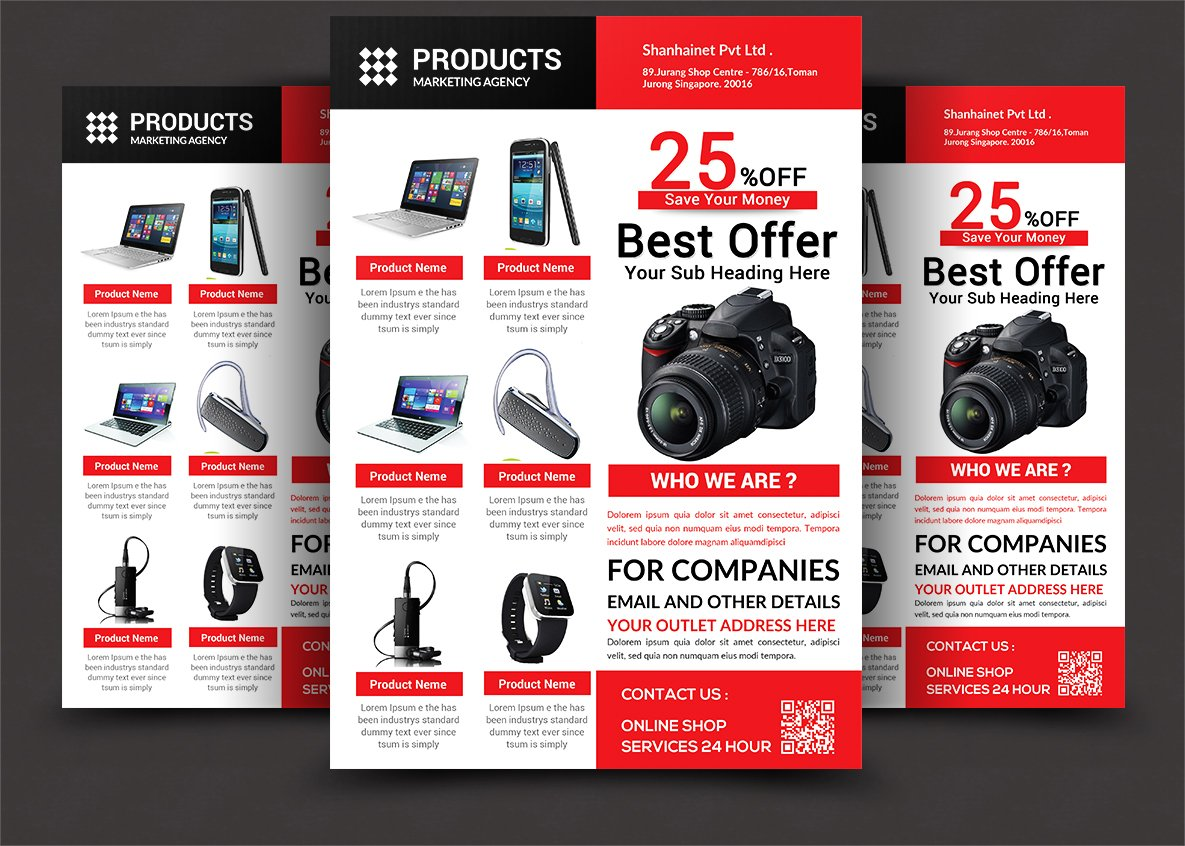 product promotion flyer flyer templates creative market. Black Bedroom Furniture Sets. Home Design Ideas
