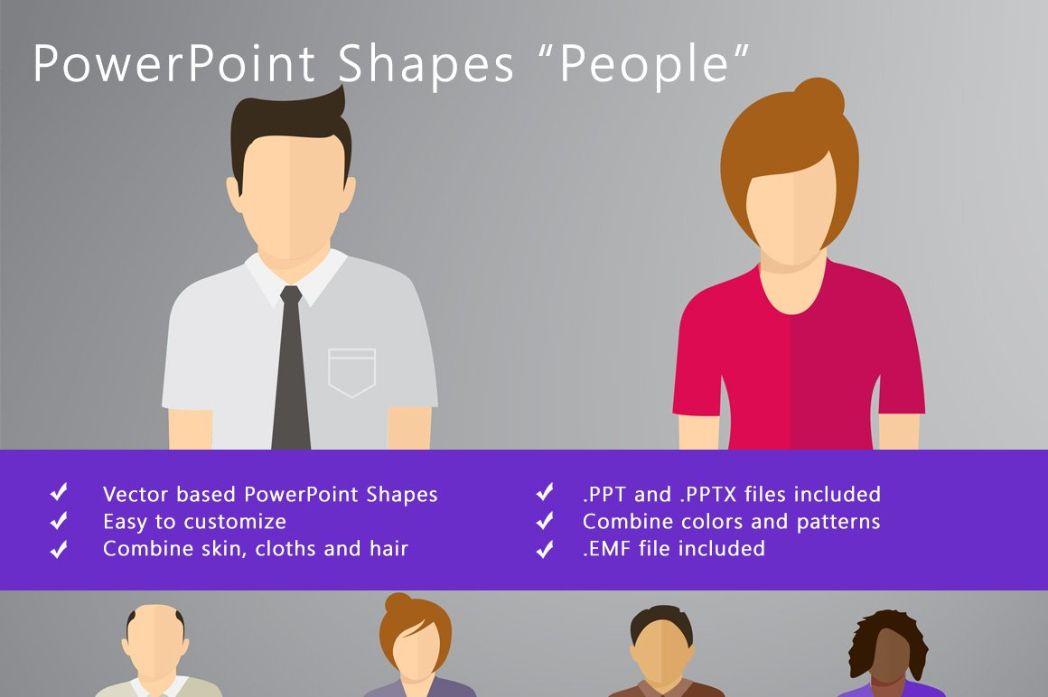 powerpoint shapes people presentation templates creative market