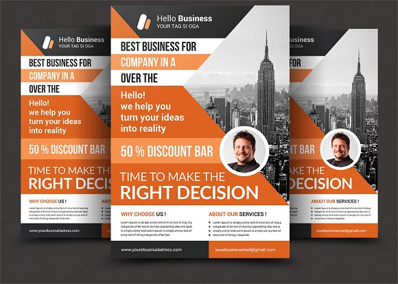 corporate business flyer flyer templates creative market