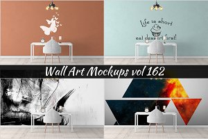 Wall Mockup - Sticker Mockup Vol 162