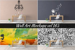 Wall Mockup - Sticker Mockup Vol 163