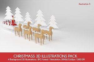 Christmas 3D Illustrations Pack (4K)