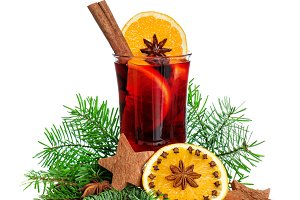 Mulled wine Christmas decoration