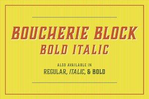 Boucherie Block Bold Italic