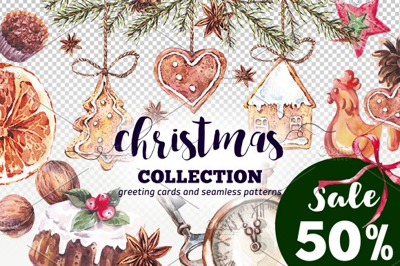 Watercolor Christmas Collection