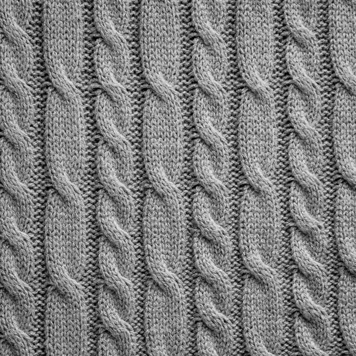 Grey knitting wool texture ~ Abstract Photos ~ Creative Market