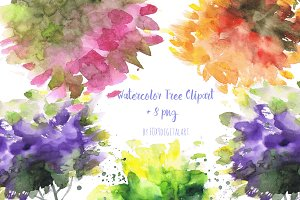 Hand Painted Watercolor Tree Clipart