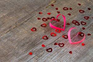 paper hearts Valentine