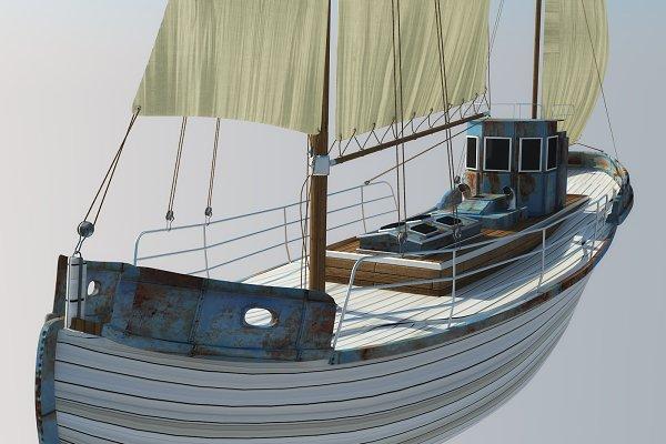 3D Vehicles: inDahouze - Odessa fishing boat