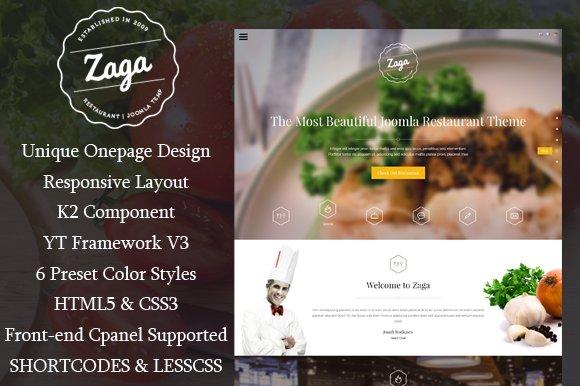 SJ Zaga - Onepage Restaurant Theme