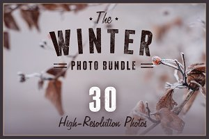 The Winter Photo Bundle - 30 Photos