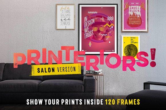 Printeriors Salon! Frame Mockups ~ Product Mockups ~ Creative Market