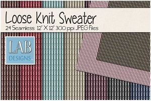 24 Loose Knit Sweater Textures
