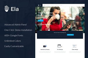 Ela - Corporate WordPress Theme