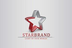 3D Star Brand Logo