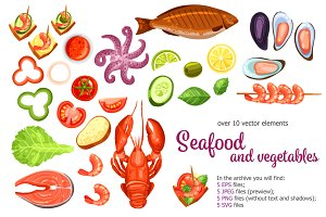 Seafood and Vegetables set
