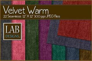 22 Warm Velvet Fabric Textures