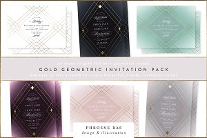Geometric Wedding Invitation EXT LIC