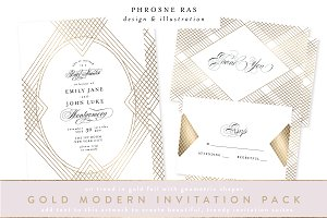 MODERN GEO WEDDING INVITATION SUITE