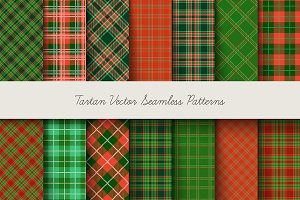Christmas plaid vector paper