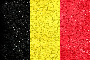 Belgium Grunge Style Flag