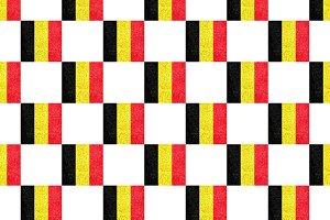 Belgium Grunge Flag Pattern