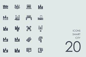 Smart city icons